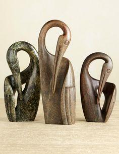 Shona Crane Sculptures | National Geographic Store