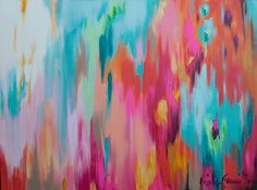 24x36 multi color abstract by kristy.gammill, via Flickr