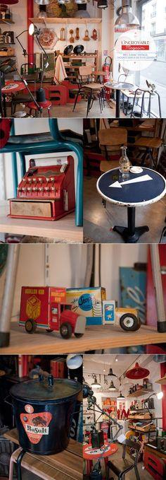 L'incroyable magasin bric à brac vintage cadeaux beaux en tous genres