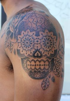 sugar skulls- this would be a sweet tattoo for a guy.. or a cool enough girl