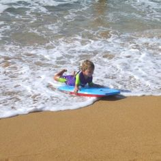 A brave body boarder in North shore. He really enjoyed it.