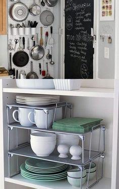 Ideas para organizar una cocina pequeña / http://www.guiaparadecorar.com/