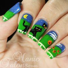 Instagram media manictalons  halloween #nail #nails #nailart