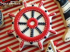 Nautical themed cookie idea by by SweetFace Cookie Boutique