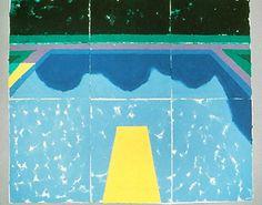 David Hockney, Pool with Reflection of Trees and Sky on ArtStack #david-hockney #art