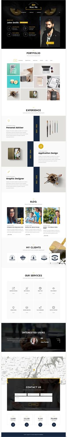 Workfolio is a wonderful #PSD template for personal #portfolio or - personal resume websites