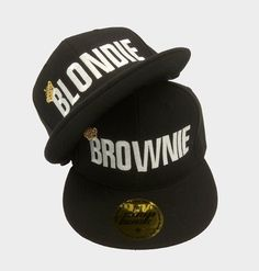 c8bcfa7f53a0f9 BLONDIE BROWNIE Queen SnapBack hats caps summer caps, hats for best  friends, lovers and friends. Both embroidered caps for one price