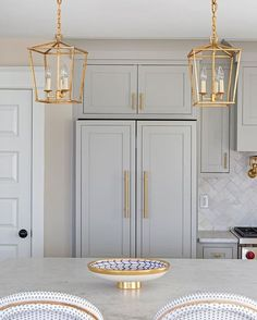dream kitchen, transitional home, clean lined design, creative lighting DesignNashville.com