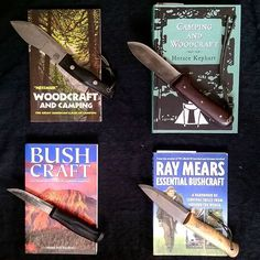 Bushcraft books and their author's style of knife