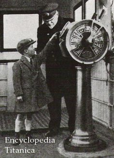 Capt. Smith with a boy on bridge