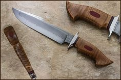 Curly Maple and Bloodwood Bowie