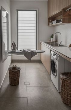 The ultimate laundry design guide! above washer and dryer small laundry rooms Laundry Room Design: The Ultimate Guide! Small Laundry Rooms, Laundry In Bathroom, Compact Laundry, Laundry Decor, Laundry Area, Laundry Closet, The Laundry, Bathroom No Window, Small Utility Room