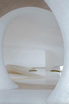 Organic Structure, Interior And Exterior, Interior Design, Underground Cities, Space Architecture, White Aesthetic, Luxury Apartments, Magazine Design, Installation Art