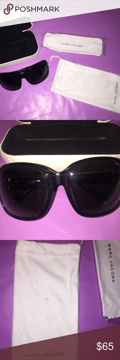 Marc Jacobs Sunglasses MMJ 063/P/S Polarized Marc Jacobs Women's Sunglasses MMJ 063/P/S Polarized   Sunglasses are in excellent condition! There are not scratches on the lens or frame. Please see all photos. They are pre loved but well cared for.  Black with a dark polarized lens Marc by Marc Jacobs inscribed on the sides.  Comes with case, dust bag and cleaning cloth.  Case and dust bag are in good condition just some wear from being at the bottom of my purse! Make an offer!! Marc by Marc…