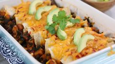 Butternut squash enchiladas with spinach, cumin, black beans and cheddar. Heart Healthy Recipes, Veggie Recipes, Mexican Food Recipes, Whole Food Recipes, Diet Recipes, Vegetarian Recipes, Cooking Recipes, Ethnic Recipes, Healthy Choices