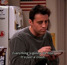 Words of wisdom from none other than Joey Tribbiani Friends Moments, Friends Tv Show, Joey Friends Quotes, Rachel Friends, Friends Scenes, Baby Friends, Citations Film, Joey Tribbiani, Film Quotes