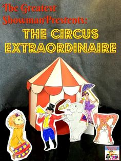 Greatest showman presents circus extraordinaire Circus craft to go with the story of P. Barnum marching his elephants over the Brooklyn bridge Circus Activities, Circus Crafts, Preschool Activities, World History Lessons, Teaching History, Us History, Pt Barnum, Barnum Circus, Kindergarten