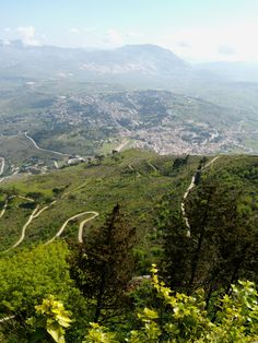 View inland from atop Erice