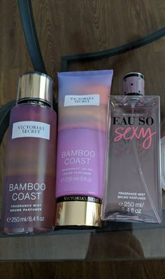 Almost completely full bamboo coast VS body spray and lotion. Spray fullness can be seen in photo lotion was only used 1 time spray was used twice. Eau so sexy spray is half full. Willing to bundle with other items for discount Bath And Body Works Perfume, Bath N Body Works, Victoria Secret Fragrances, Victoria Secret Perfume, Parfum Victoria's Secret, Victoria Secret Body Spray, Perfume Hermes, Pink Perfume, Makeup Products