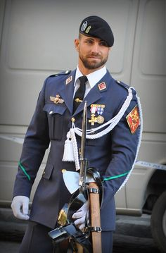 that would be the costume / uniform for me. would even go as far as shaping my beard like his, when wearing the uniform. Sexy Military Men, Army Men, Hot Cops, Hommes Sexy, Men In Uniform, Bear Men, Gorgeous Men, Handsome, Mens Fashion