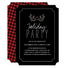 Holiday Dinner Party Invitation - Xmas ChristmasEve Christmas Eve Christmas merry xmas family kids gifts holidays Santa
