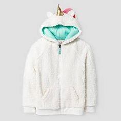 Aria, size small [Girls' Unicorn Cozy Hoodie Cat & Jack™ - Cream : Target]