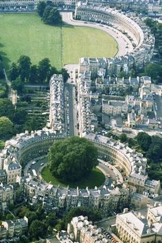 Royal Crescent - Bath, England. You really feel like you're walking through a Jane Austen novel.