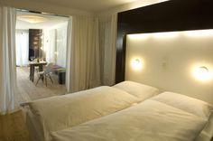 Schlafzimmer im LAMA #architecture #interior #hotel #apartment #chalet #alps Architekt: HolzBox Tirol, Foto: Gerda Eichholzer Bed, Design, Apartments, Bedroom, Timber Wood, Homes, Stream Bed, Beds