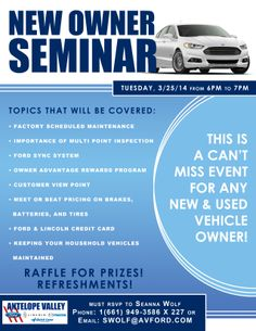 New Owner Seminar - March 25th