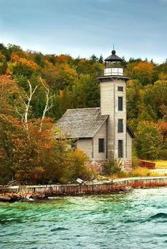 Island Lighthouse by Randall Nyhof Grand Island Lighthouse, Michigan. Our state has some pretty beautiful lighthouses! Our state has some pretty beautiful lighthouses! Lighthouse Pictures, Grand Island, Beacon Of Light, Am Meer, Great Lakes, Belle Photo, Places To See, Beautiful Places, Scenery