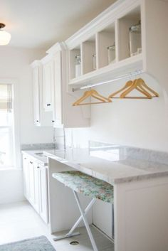 Best 20 Laundry Room Makeovers - Organization and Home Decor Laundry room organization Laundry room decor Small laundry room ideas Farmhouse laundry room Laundry room shelves Laundry closet Kitchen Short People Freezer Shiplap Mudroom Laundry Room, Laundry Room Layouts, Laundry Room Remodel, Laundry Room Organization, Laundry In Bathroom, Laundry Room Folding Table, Laundry Storage, Laundry Table, Laundry Decor