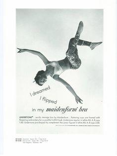 I Dreamed I Flipped. Vintage Ads. Maidenform.