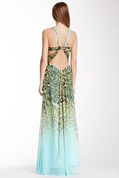 Open Back Printed Gown by La Femme on @HauteLook