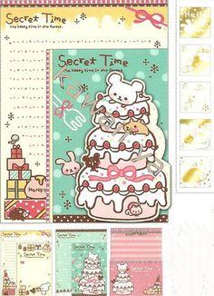 Q-Lia *Secret Time* Letter Set #2 (one of each design - 3)