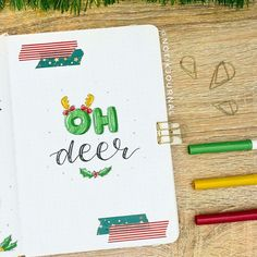 #bujolove hashtag on Instagram • Photos and Videos Oh Deer, Journal Pages, Bujo, Bullet Journal, Lettering, Photo And Video, Instagram, Videos, Christmas