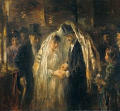 Jozef Israëls A Jewish Wedding (1903) This painting can be seen in the Rijksmuseum, Amsterdam, Holland