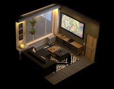 Brilliant Draw A Glass Ideas. Exquisite Draw A Glass Ideas. Isometric Art, Isometric Design, Flat Design, 3d Design, House Design, Gaming Room Setup, Video Game Rooms, Game Room Design, Gamer Room