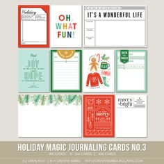 This set of ten digital journaling cards is perfect for pocket page protectors, scrapbooking and mini-books. Included in this set are individual... Pocket Page Scrapbooking, Scrapbook Page Layouts, Scrapbook Pages, Digital Scrapbooking, Page Protectors, Life Page, Digital Journal, Its A Wonderful Life, Merry And Bright