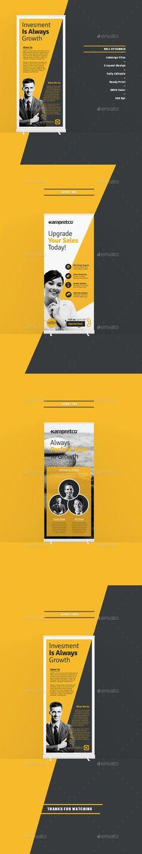 Roll-Up Banner Template #design Download: http://graphicriver.net/item/roll-up-banner/13642526?ref=ksioks