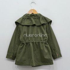 Mädchen Kinder Revers Windjacke Mantel Zipper Trenchcoat Gr. 110 116 122 128 134 | eBay