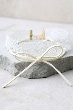#AdoreWe #lovelulus Lulus Luminous Love Cream Lace Layered Choker Necklace - AdoreWe.com