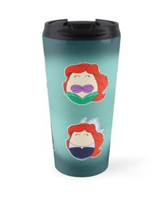 """Little Mermaid Tiggles"" Travel Mugs by LaurasLovelies 