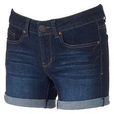 Juniors' SO® Midi Jean Shorts