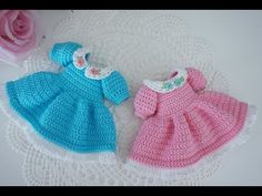 How to crochet pretty dress / Blythe clothes / doll outfit - YouTube