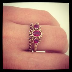 """@ruthtomlinsonjewellery's photo: """"Ruby rings from our #midascollection"""""""
