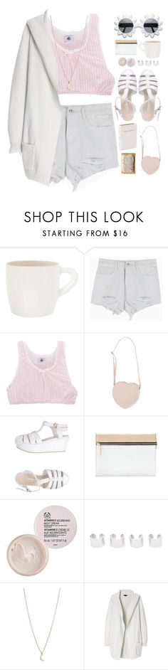 """""""Untitled #348"""" by amy-lopezx ❤ liked on Polyvore featuring BRICKETT DAVDA, Petit Bateau, Moschino Cheap & Chic, Combo, Victoria Beckham, The Body Shop, Maison Margiela, Minor Obsessions and Theory"""
