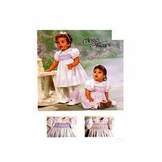 Infants Smocked Dress Jumpsuit Snap Crotch McCalls 6399 Vintage Sewing Pattern