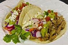 Beer Braised Pulled Pork Tacos