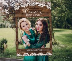 Bridal Shower Photo Booth Frame Rustic Bridal Shower Photo
