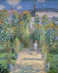 The Artists Garden at Vétheuil, by Claude Monet